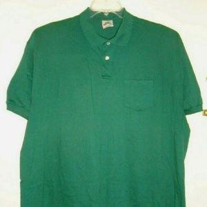 Vintage Hanes Golf Polo Shirt Cotton Blend Pocket